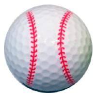 Bola golf beisbol
