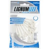 Bolsa de 12 Lignum tees 72mm color blanco.